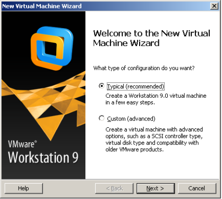 New Virtual Machine Wizard